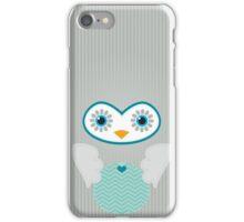 IPhone :: cute owl face - silver grey iPhone Case/Skin