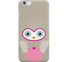 IPhone :: cute owl face - brown / pink iPhone Case/Skin