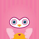 IPhone :: cute owl face - pink by Kat Massard