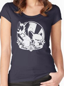 Pinky & The Brain Women's Fitted Scoop T-Shirt