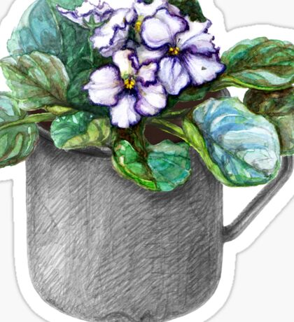 Mug with violets Sticker