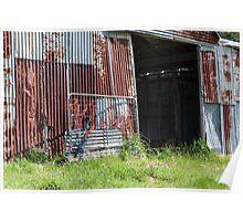 Battered old barn Poster