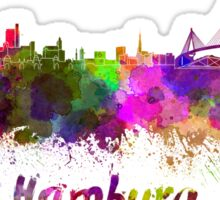 Hamburg skyline in watercolor Sticker