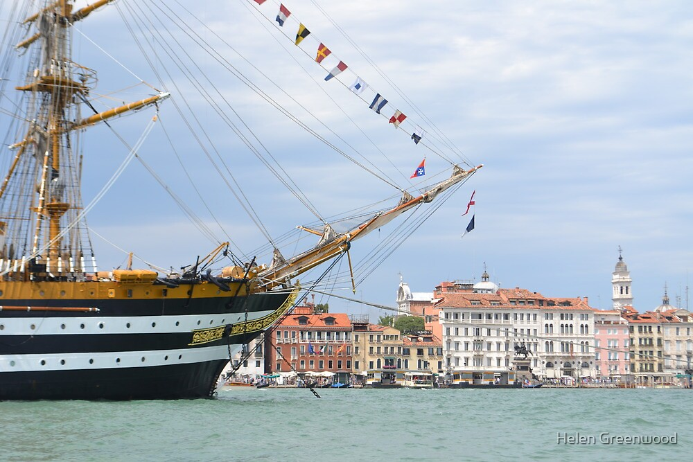 Tall Ship in Venice by Helen Greenwood