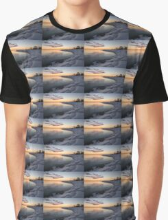Small Cove Pink and Snowy Dawn Graphic T-Shirt