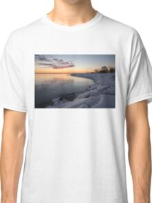 Small Cove Pink and Snowy Dawn Classic T-Shirt