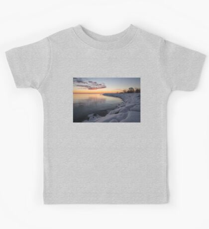 Small Cove Pink and Snowy Dawn Kids Tee