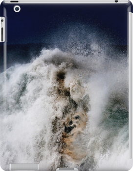 iPad Case.  Winter Waves At Pipeline 12. by Alex Preiss
