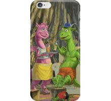 dragons relaxing at home iPhone Case/Skin