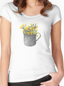 Mug with primulas Women's Fitted Scoop T-Shirt