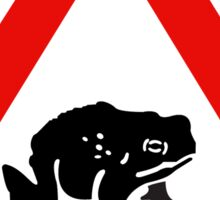 Frog Crossing, Warning Sign, UK Sticker
