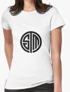 TSM White Logo Womens Fitted T-Shirt