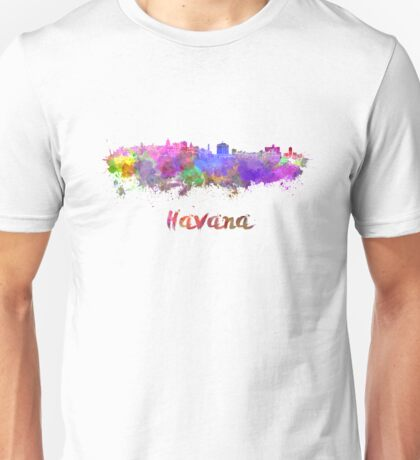 Havana skyline in watercolor Unisex T-Shirt