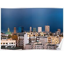 Warsaw Cityscape Poster
