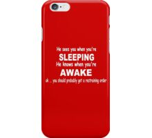 funny cynical grown up Christmas - Creepy Santa iPhone Case/Skin