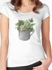 Mug with green forest growth Women's Fitted Scoop T-Shirt