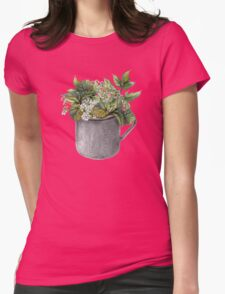 Mug with green forest growth Womens Fitted T-Shirt