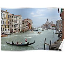 Grand Canal and Gondola Poster