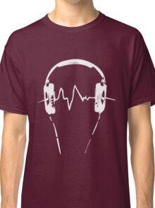 Headphones Frequency Girls funny nerd geek geeky Classic T-Shirt