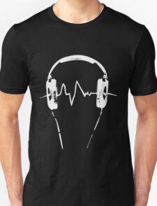 Headphones Frequency Girls funny nerd geek geeky T-Shirt