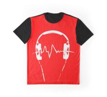 Headphones Frequency Girls funny nerd geek geeky Graphic T-Shirt