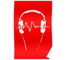 Headphones Frequency Girls funny nerd geek geeky Poster