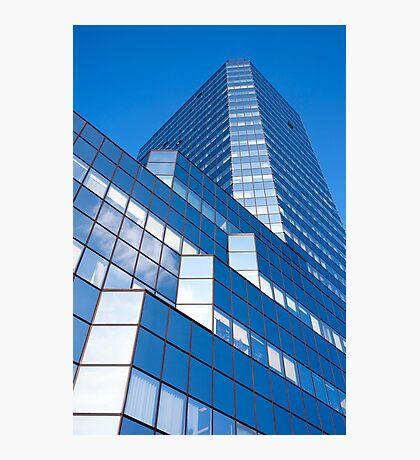 Skyscraper Blue Facade Photographic Print