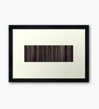 Moviebarcode: High Fidelity (2000) Framed Print