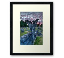 Angel at Sunset 0233-A Harlow Hill Cemetery Framed Print