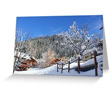 Morel Ski Lift Greeting Card