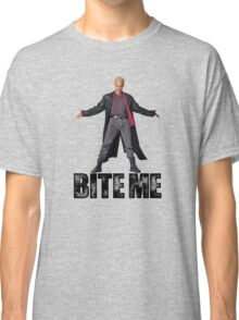 Spike from Buffy - Bite Me Classic T-Shirt