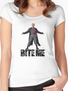 Spike from Buffy - Bite Me Women's Fitted Scoop T-Shirt