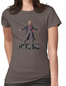 Spike from Buffy - Bite Me Womens Fitted T-Shirt