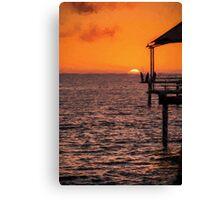 Sunset Fishing          (ED) Canvas Print