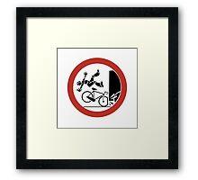 Bikers, Be Careful, Warning Sign, Switzerland Framed Print