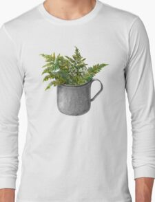 Mug with fern leaves Long Sleeve T-Shirt