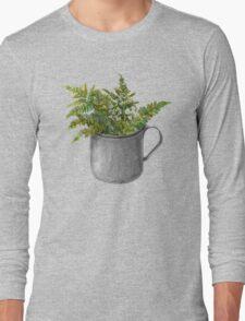 Mug with fern leaves Long Sleeve T-Shirt