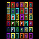 Rainbow Tardis by Silfrvarg