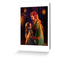 Kili and Tauriel: Lanterns Greeting Card