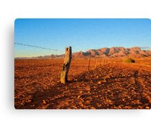 Outback Fence       (OP) Canvas Print