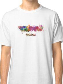 Helsinki skyline in watercolor Classic T-Shirt