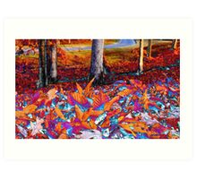 Autumn Foilage Art Print