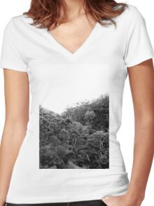 into the woods  Women's Fitted V-Neck T-Shirt