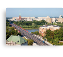 Cityscape of Warsaw in Poland Canvas Print
