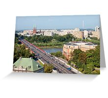 Cityscape of Warsaw in Poland Greeting Card