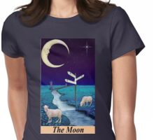 THE MOON Womens Fitted T-Shirt