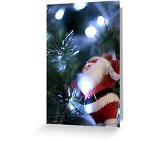 Father Christmas on the Tree Greeting Card