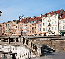 Old Apartment Buildings in Warsaw by Artur Bogacki