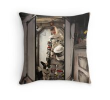 Pickles and I in Space Throw Pillow