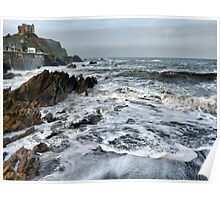 Rough Seas at Illfracombe. Poster